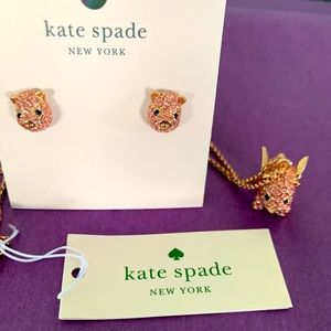 Kate Spate Pig Necklace & Earrings Set